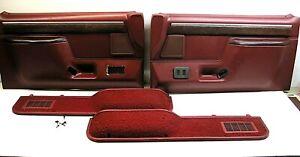 1987-1991 Ford F-150 F-250 Bronco right left door panels power locks windows red