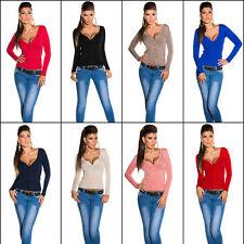 Feine hüftlange Damen-Pullover & -Strickware aus Baumwolle mit Knöpfen