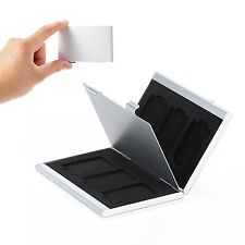6in1 Aluminum SD SDHC Memory Card Protector Storage Box Case Anti-scratch Holder