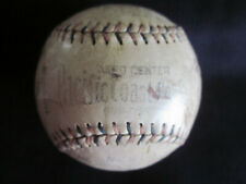 1923 Pacific Coast League Players Signed Game Used Red & Blue Stitching Baseball