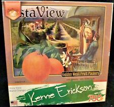 Kerne Erickson Vista View Brand Oranges 750 piece puzzle Sealed