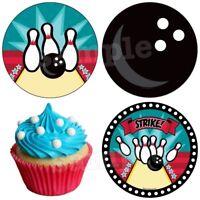 Bowling Kegeln Super Essbar Muffinaufleger Tortenbild Party Deko neu Karte dvd