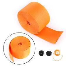 Car Seat Belt Webbing Polyester Seat Lap Retractable Nylon Safety Strap Orange