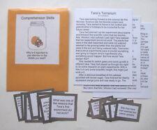 Teacher Made Literacy Center Comprehension Skills Resource Game Recalling Facts