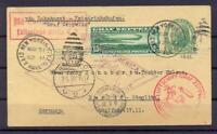 DR Zeppelin Rückfahrt Südamerika Lakehurst-Berlin mit USA 65 Ct (hs46)