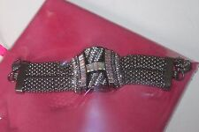 Butler and Wilson Pewter Crystal Art Deco Style Bracelet - new and sealed in box