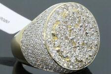 10K YELLOW GOLD 4 CARAT MENS REAL DIAMOND ENGAGEMENT WEDDING PINKY RING BAND