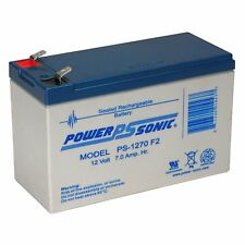 Power-Sonic Powersonic PS-1270F2 - 12V 7AH SLA Battery with 0.250 Fast-on Connec