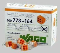 Wago 773-164 4-Pin PUSH WIRE? Connectors for Junction Boxes 100 PK