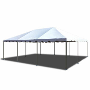 Party Event Canopy Tent Commercial Economy White Vinyl Steel 20x30 Frame Tent