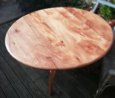 ERCOL Elm Oval Drop Leaf Table Retro Mid century 1960s