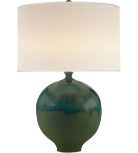 Visual Comfort ARN3610VV Aerin Collection Gaios Table Lamp in Volcanic Verdi