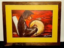 Ted DeGrazia Artist TAMBOLERO Double Signed Print Lithograph Framed Art