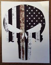 PUNISHER Skull Head Car Window Bumper Vinyl Reflective Sticker Decal Camouflage