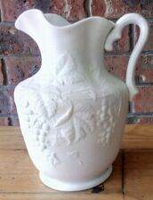 ANTIQUE c1853-94 BING & GRONDAHL PARIAN WARE LARGE PITCHER JUG..GRAPES & VINE