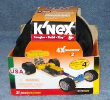 K'Nex 4X Dragsters Set 2 #10322 Yellow Dragster 31 Pieces