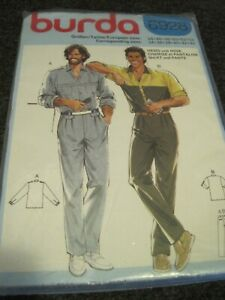 BURDA 6928 MENS' SHIRT & PANTS Sewing Pattern 34 - 44 UNCUT