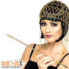 Gold Cigarette Holder Flapper Fancy Dress 1920s Ladies Womens Costume Accessory