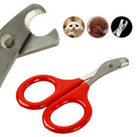 Pet Heavy Duty Nail Clipper Cutter Trimmer Cat Dog Rabbit Toe Claw Paw Care Red
