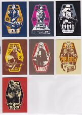 Star Wars A Solo Story, 'Character Stickers' Chase Card Set CS1-7