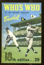 1950 Who's Who In The Major Leagues Baseball Annual Ex/MT Nice MBX1 36473