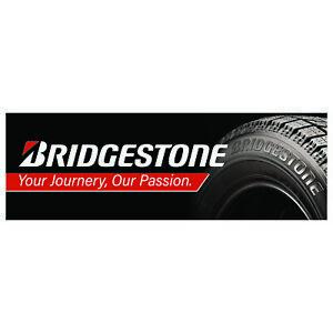 Bridgestone Tyres Vinyl PVC Tyre Banner Workshop Garage Trackside Sign 6ft x2ft