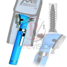 Bleu ciel mini Otoscope Fibre Optique examen médical de diagnostic KIT + Ampoule LED