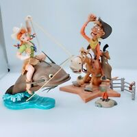 """WDCC MELODY TIME """"SLUE FOOT SUE"""" & Pecos Bill, Melody Time American Folk Hero's."""