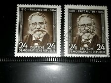 East DDR  1954 80th death anniversary  of Reuther  mint and used