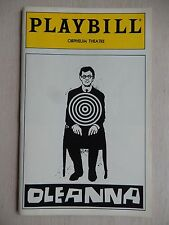 October 1993 - Orpheum Theatre Playbill - Oleana - Jim Frangione - Mary McCann