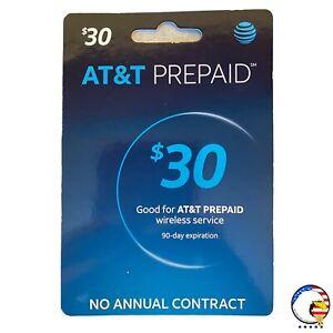 $30 At&t Prepaid Wireless Card