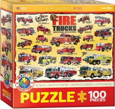 Fire Trucks Jigsaw Puzzle Smart Kids Collection by Eurographics 100 Pieces