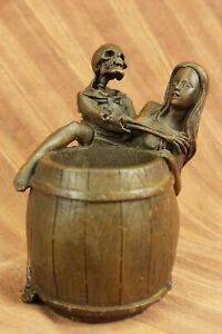 Nude Girl Brush Pot Pen Holder Pen Stand Bronze Sculpture Handcrafted Decor SALE