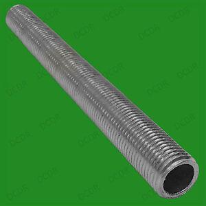 2x M10 300mm x10mm Allthread Nipple Hollow Threaded Rod Tube Lamp Light Socket