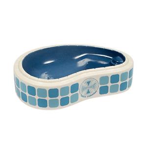 Independent Skateboard Ceramic Pool Dish Tiled Cross Off White/Blue