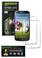 2x Pack KRYPTONITE Protectores de Pantalla de Vidrio Templado para Galaxy S4