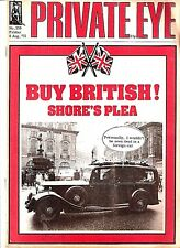 Private Eye Mag # 356  8 August 1975  Rolls Royce cover  Peter Shore MP  Stepney
