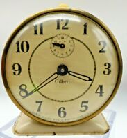 Antique Gilbert Mechanical pre-1932 Alarm Clock Bakelite Knobs L61
