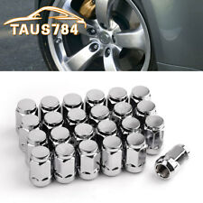 24 Chrome Bulge Acorn 14x1.5 Lug Nuts for CHEVROLET SILVERADO EQUINOX MALIBU XL