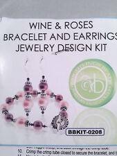 Brightling Beads Wine & Roses Bracelet and Earrings Jewelry Design Kit Purple