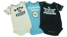 MLB Genuine Merchandise Tampa Bay Rays Creeper Infant 3 Piece Bodysuit Set New