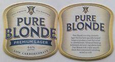 Pure Blonde Premium Lager Low Carb 4.6% Alc Vol 2 x Coaster (B318-11)