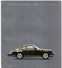 Porsche 911 1984-85 UK Market Sales Brochure 3.2 Carrera 3.3 Turbo