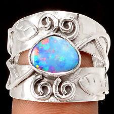 Australian Opal 925 Silver Ring Jewelry s.7.5 SR213260