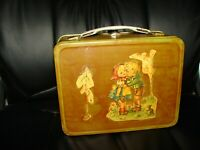 Vintage metal lunch box handmade design
