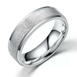 Ring  Silver Color  Stainless Steel Rings Size 12 Gift Party Jewelry