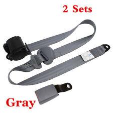 2 Sets Adjustable Seat Belt Car Truck Lap Belt Universal 3 Point Safety Travel