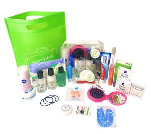 25 items Travel Size Toiletries Set - Travel and Hospital Reusable Organizer Bag