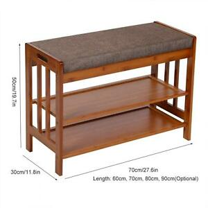 Multi-functional 80cm Shoes Storage Bench Shoes Organizer Rack With Padded