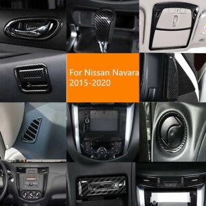 For Nissan Navara NP300 2015-2020 Carbon Black Interior Decoration Cover Trim